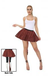 Crazy Chick 3 Layers Plain Brown TuTu Skirt With Tail