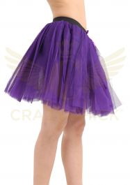 Crazy Chick 3 Layers Purple TuTu Skirt (Approx 18 Inches Long)