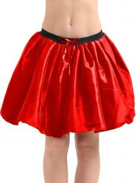 Crazy Chick 3 Layers Red Satin TuTu Skirt (Approx 18 Inches Long)