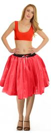 Crazy Chick 3 Layers Red TuTu Skirt (Approx 18 Inches Long)
