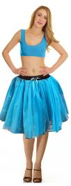 Crazy Chick 3 Layers Turquoise TuTu Skirt (Approx 18 Inches Long)