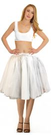 Crazy Chick 3 Layers White Angel TuTu Skirt (Approx 18 Inches Long)