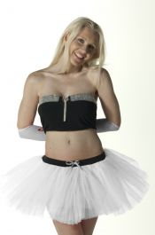 Crazy Chick 3 Layers White Angel TuTu Skirt