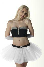 Crazy Chick 3 Layers White Angel TuTu Skirt