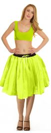 Crazy Chick 3 Layers Yellow TuTu Skirt (Approx 18 Inches Long)