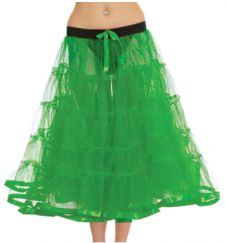 Crazy Chick 5 Tier Petticoat with Ribbon Green TuTu Skirt (Approximately 30 Inches Long)