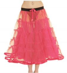 Crazy Chick 5 Tier Petticoat with Ribbon Pink TuTu Skirt (Approximately 30 Inches Long)