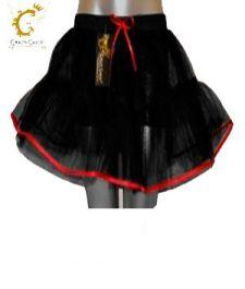 Crazy Chick 4 Layers Black Red Vampire TuTu Skirt