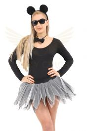 Crazy Chick 6 Layer Black White Petal TuTu Skirt
