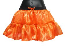 Crazy Chick Orange Satin TUTU Skirt