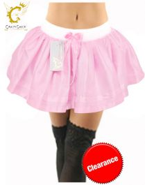 Crazy Chick Baby Pink Satin TuTu Skirt