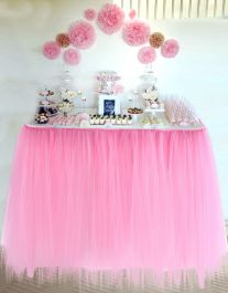 Crazy Chick Baby Pink Table TuTu Skirt