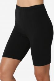Crazy Chick Women Black Microfibre Cycling Shorts
