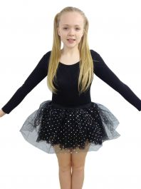 Crazy Chick Black Sequin Skirt