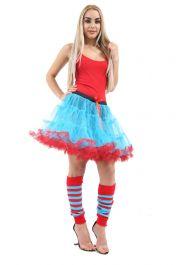 Crazy Chick 2 Layer Dance Ruffle Edged TUTU Skirt (18 Inches)
