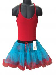 Crazy Chick Girls 2 Layer Dance Ruffle Edged TUTU Skirt
