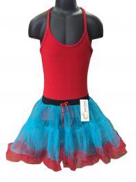Crazy Chick Girls 2 Layer Dance Ruffle Edged TUTU Skirt