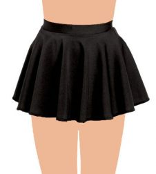 Crazy Chick Girls Black Circular Skirt