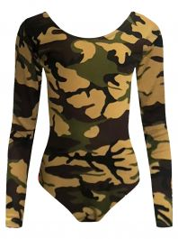Crazy Chick Girls Camouflage Leotard