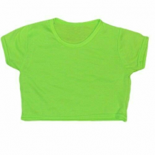 Crazy Chick Girls Microfiber Green Crop Top
