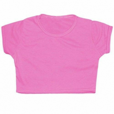 Crazy Chick Girls Microfiber Pink Crop Top