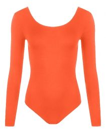 Crazy Chick Girls Orange Leotard