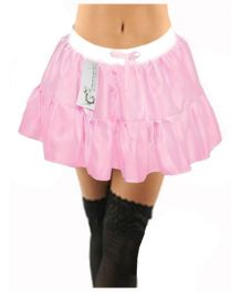 Crazy Chick Girls Plain Satin Baby Pink TUTU Skirt