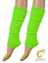 Crazy Chick Green Plain Leg Warmer