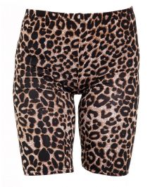 Crazy Chick Leopard Print Cycling Shorts