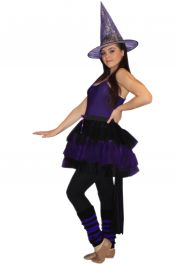 Crazy Chick Long Tail Black and purple TuTu Skirt