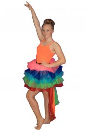 Crazy Chick Long Tail Rainbow TuTu Skirt