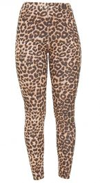 Crazy Chick Girls Microfiber Leopard Print Leggings