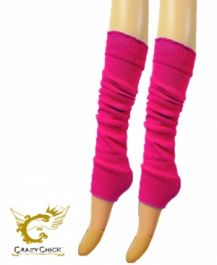 Crazy Chick Plain Neon Pink Leg Warmer
