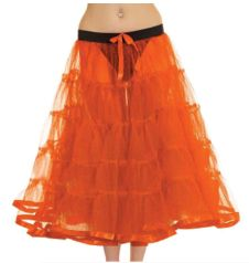 Crazy Chick 5 Tier Petticoat with Ribbon Orange TuTu Skirt (Approximately 30 Inches Long)