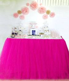 Crazy Chick Pink Table TuTu Skirt