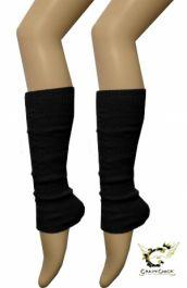 Crazy Chick Plain Black Leg Warmer