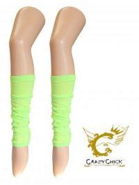 Crazy Chick Plain Lime Yellow Leg Warmer