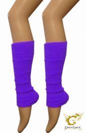 Crazy Chick Plain Purple Leg Warmer