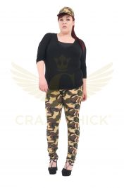 Crazy Chick Plus Size Cotton Camouflage Leggings