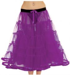 Crazy Chick 5 Tier Petticoat with Ribbon Purple TuTu Skirt (Approximately 30 Inches Long)