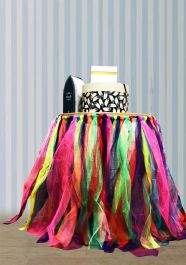 Crazy Chick Rainbow Table TuTu Skirt