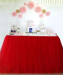 WickedFun Red Table TuTu Skirt