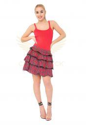 Crazy Chick Red Tartan Skirt