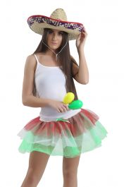 Crazy Chick Mexican - Italian TuTu Skirt