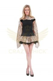 Crazy Chick Leopard Printed TuTu Skirt