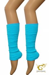 Crazy Chick Turquoise Plain Leg Warmer