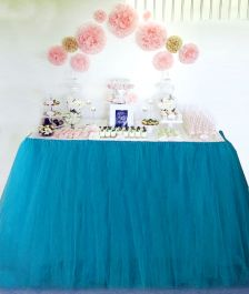 Crazy Chick Turquoise Table TuTu Skirt