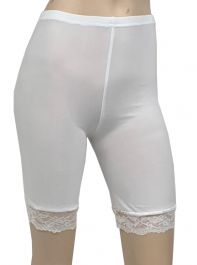 Crazy Chick White Microfiber Lace Cycling Shorts