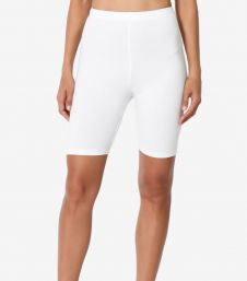 Crazy Chick Women White Microfibre Cycling Shorts