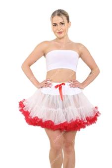 Crazy Chick White & Red Christmas TuTu Skirt